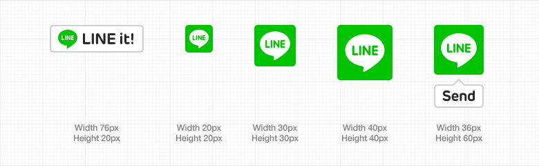 LINE share icons